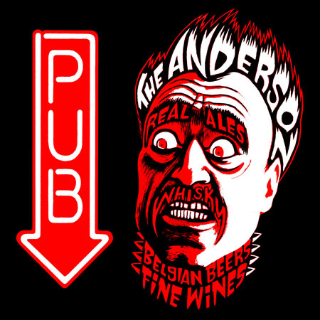 The Anderson pub sign